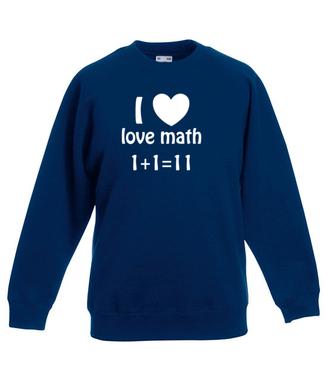 Matematyka moją miłością - Bluza z nadrukiem - Szkoła - Dziecięca
