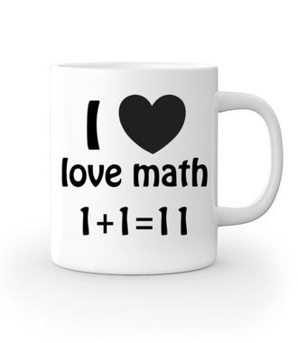 Matematyka moją miłością - Kubek z nadrukiem - Szkoła - Gadżety