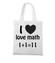 Matematyka moja miloscia torba z nadrukiem szkola gadzety werprint 1081 161