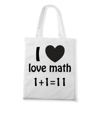 Matematyka moją miłością - Torba z nadrukiem - Szkoła - Gadżety