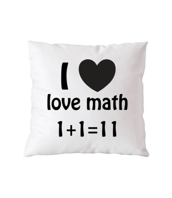 Matematyka moja miloscia poduszka z nadrukiem szkola gadzety werprint 1081 164