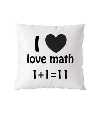Matematyka moją miłością - Poduszka z nadrukiem - Szkoła - Gadżety