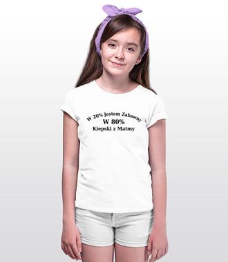 Zabawny, choć kiepski z matmy - Koszulka z nadrukiem - Szkoła - Dziecięca