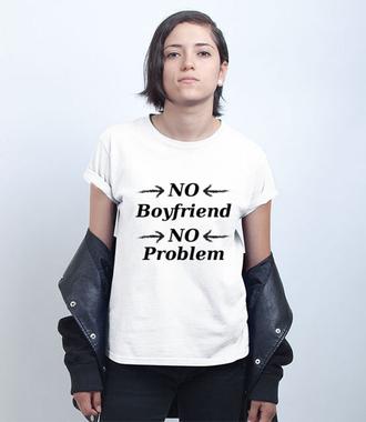 Nie ma chłopa, nie ma problemu - Koszulka z nadrukiem - Śmieszne - Damska