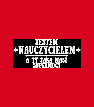 Supermoc nauczyciel grafika na koszulke meska 1130