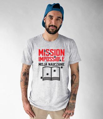 Misja: NAUCZANIE - Koszulka z nadrukiem - Dzień nauczyciela - Męska