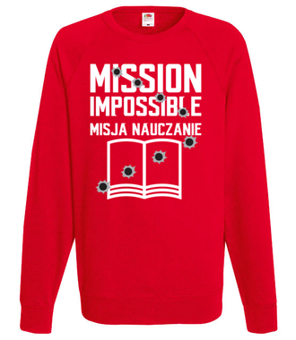 Misja: NAUCZANIE - Bluza z nadrukiem - Dzień nauczyciela - Męska
