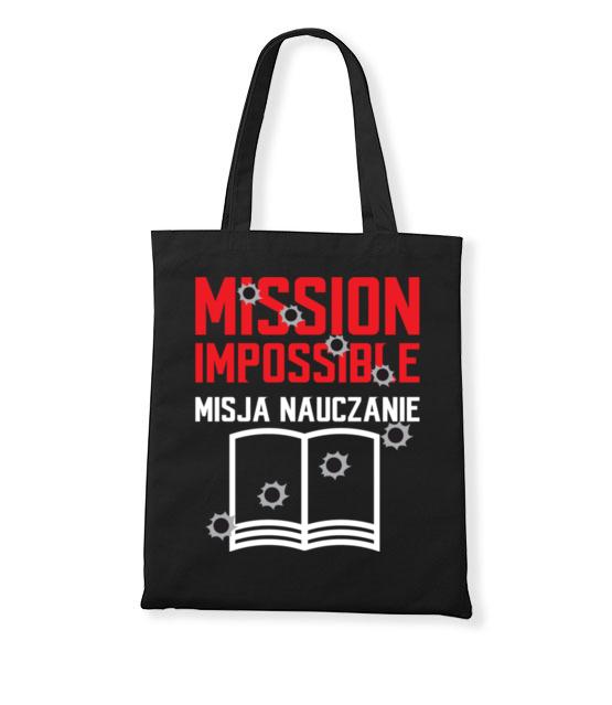 Misja nauczanie torba z nadrukiem dzien nauczyciela gadzety werprint 1144 160