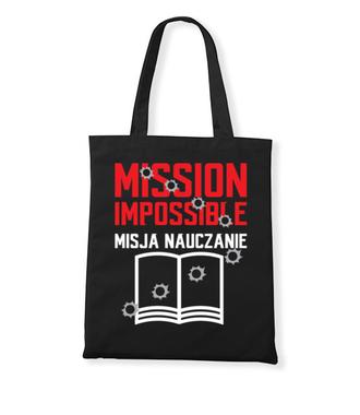 Misja: NAUCZANIE - Torba z nadrukiem - Dzień nauczyciela - Gadżety
