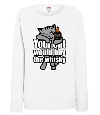 Whiskacz dla każdego kota - Bluza z nadrukiem - Śmieszne - Damska