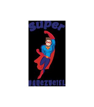 Super moc super nauczyciel grafika na bluze z kapturem meska 1207
