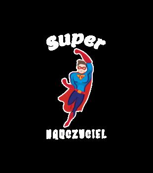 Super moc super nauczyciel grafika na bluze z kapturem meska 1208