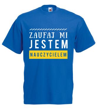 Spokojnie, jestem nauczycielem! - Koszulka z nadrukiem - Dzień nauczyciela - Męska