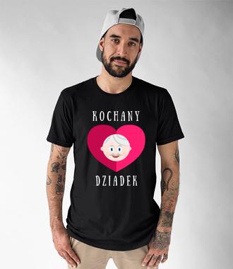 Okaż dziadkowi więcej serca - Koszulka z nadrukiem - Dla Dziadka - Męska