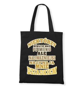 Zadziorna koszulka z nadrukiem dla dziadka - Torba z nadrukiem - Dla Dziadka - Gadżety
