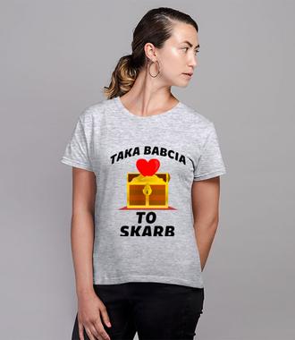 Wyznaj babci miłość na wesoło - Koszulka z nadrukiem - Dla Babci - Damska