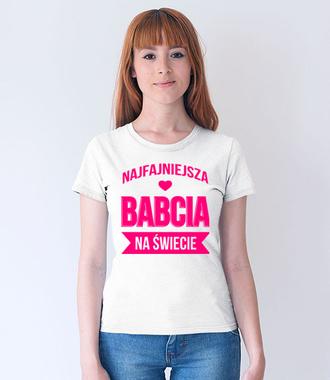 Wyznanie dla babci na różowo - Koszulka z nadrukiem - Dla Babci - Damska