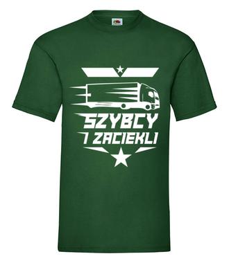 Nie podskakuj kierowcom dużych samochodów - Koszulka z nadrukiem - dla kierowcy tira - Męska