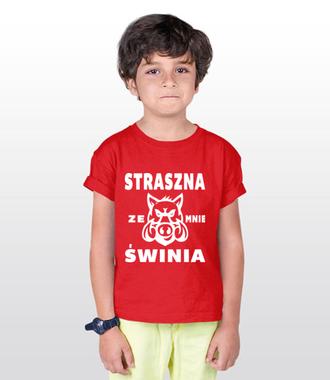 Małe ostrzeżenie dla otoczenia - Koszulka z nadrukiem - Śmieszne - Dziecięca