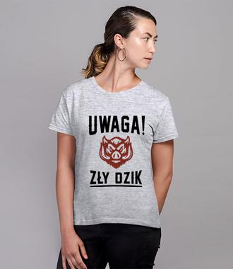 Lubimy takie komunikaty - Koszulka z nadrukiem - Śmieszne - Damska