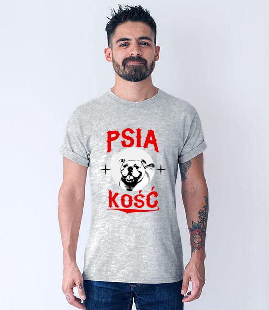 Psia koszulka z humorem koszulka z nadrukiem milosnicy psow mezczyzna werprint 1358 57