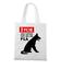 Graficzny manifest dla psich maniakow torba z nadrukiem milosnicy psow gadzety werprint 1363 161