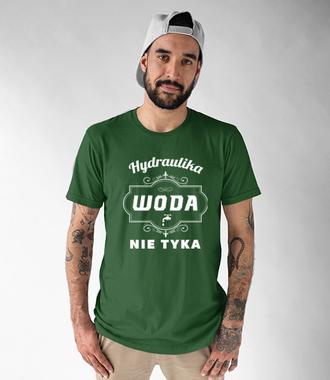 Branżowa koszulka z nadrukiem dla hydraulika - Koszulka z nadrukiem - Dla hydraulika - Męska