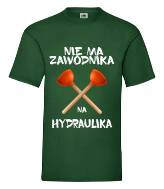 Wiadomo, że masz dystans do pracy - Koszulka z nadrukiem - Dla hydraulika - Męska