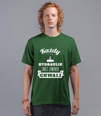 Zabawnie i z dużym dystansem - Koszulka z nadrukiem - Dla hydraulika - Męska