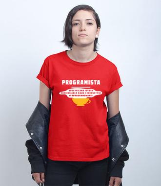 Specyficzna istota - Koszulka z nadrukiem - Dla programisty - Damska