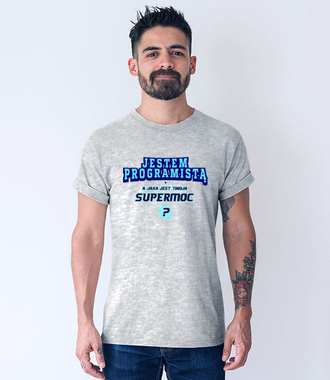 Przechwałki na koszulce - Koszulka z nadrukiem - Dla programisty - Męska
