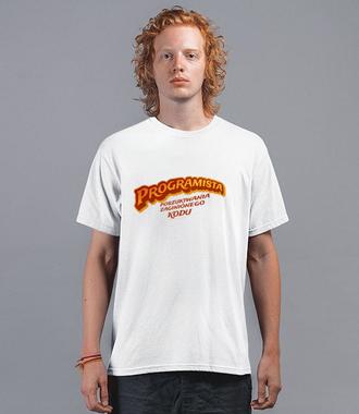 Wiadomo, jaką masz misję - Koszulka z nadrukiem - Dla programisty - Męska