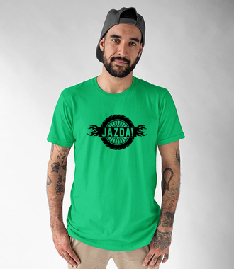 Charakterek z pazurem - Koszulka z nadrukiem - Dla motocyklisty - Męska