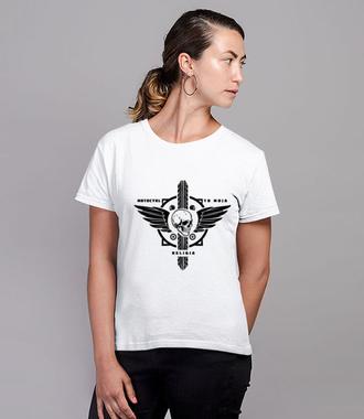 Motocyklowy kult - Koszulka z nadrukiem - Dla motocyklisty - Damska