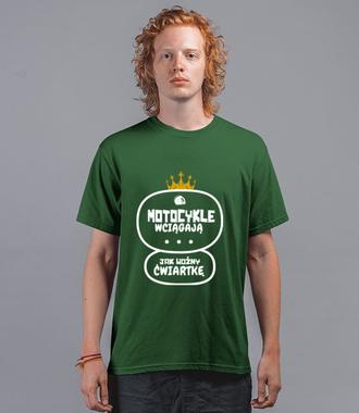 Motocykle wyciągają ćwiartkę - Koszulka z nadrukiem - Dla motocyklisty - Męska