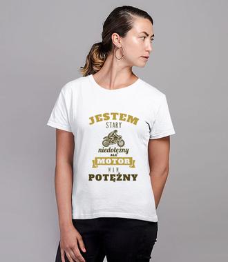 Z dystansem do siebie - Koszulka z nadrukiem - Dla motocyklisty - Damska