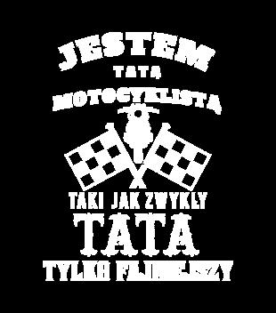 Tata motocyklista grafika na koszulke damska 1478