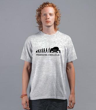 Ewolucja mechanika - Koszulka z nadrukiem - Dla mechanika - Męska