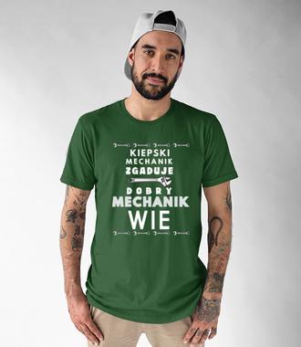 Autentyczny mechanik - Koszulka z nadrukiem - Dla mechanika - Męska