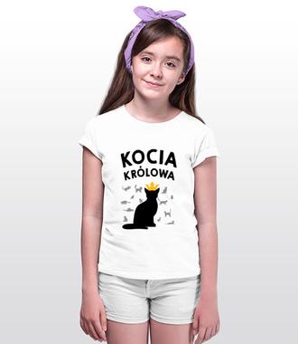 Pokłony dla kociej królowej - Koszulka z nadrukiem - Miłośnicy kotów - Dziecięca