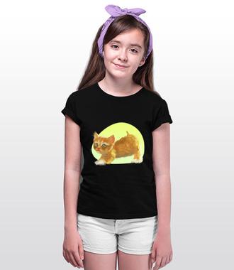Uroczy kotek - Koszulka z nadrukiem - Miłośnicy kotów - Dziecięca