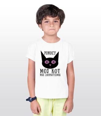 Kot hipnotyzer - Koszulka z nadrukiem - Miłośnicy kotów - Dziecięca