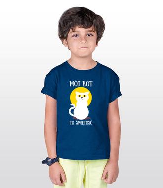Bo do kota można mieć dystans - Koszulka z nadrukiem - Miłośnicy kotów - Dziecięca