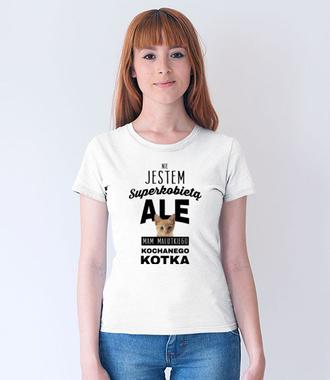 Nie jestem suerkobietą  - Koszulka z nadrukiem - Miłośnicy kotów - Damska