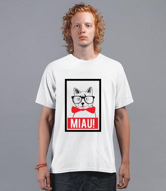 Kot elegant - Koszulka z nadrukiem - Miłośnicy kotów - Męska
