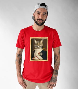 Napoleon Kotaparte - Koszulka z nadrukiem - Miłośnicy kotów - Męska