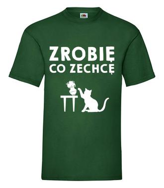 Nie mów mi co mam robić - Koszulka z nadrukiem - Miłośnicy kotów - Męska