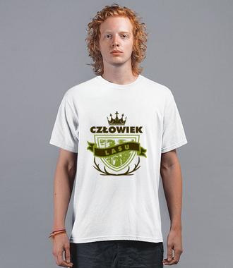 Człowiek lasu - Koszulka z nadrukiem - Praca - Męska