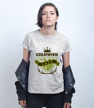 Człowiek lasu - Koszulka z nadrukiem - Praca - Damska