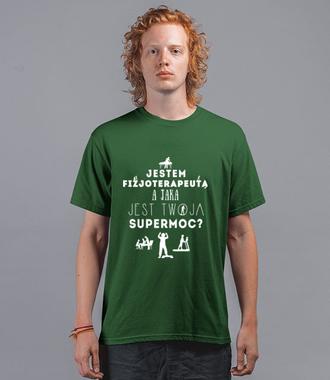 Super moc fizjoterapeuty - Koszulka z nadrukiem - Praca - Męska